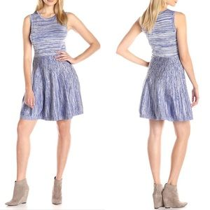 Jessica Simpson blue white flared knit dress-sz S